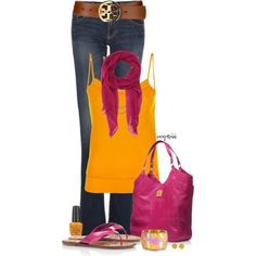 Tory Burch Does Pink, created by exxpress on Polyvore
