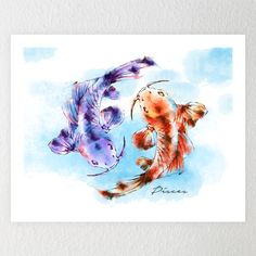 Pisces The Fish Design by: ashoka  Shop Here :https://funkylicious.com/product/pisces-the-fish_artprint