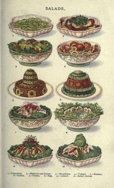 1907 - from the vintage book:  Mrs. Beeton's household management - a guide to cookery in all branches : daily duties, menu making...