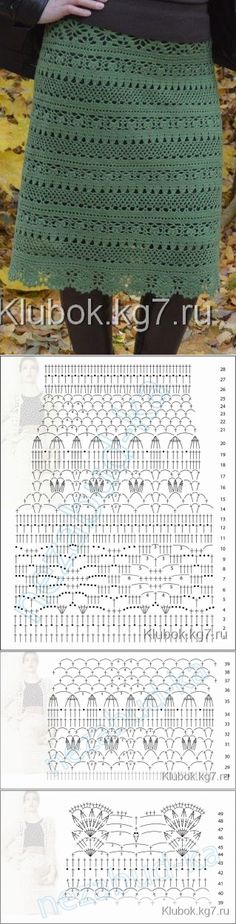 The skirt connected by Marina Avdeeva Filet Crochet, Crochet Chart, Crochet Lace, Crochet Bikini, Crochet Hooks, Crochet Skirt Pattern, Crochet Skirts, Crochet Clothes, Crochet Stitches