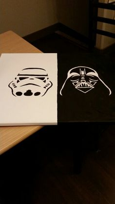 Star wars painted canvas