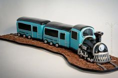 train cake loving the front of the locomotive!
