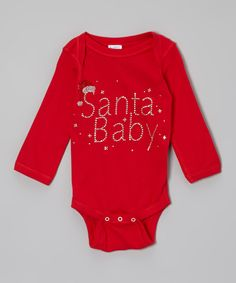 Take a look at this Rivera-Company Red 'Santa Baby' Bodysuit - Infant on zulily today!