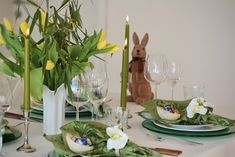 dinner, table, easter, decor White Cottage, Easter Decor, Dinner Table, Table Decorations, Home Decor, Wood Grain, Types Of Wood, Dinning Table, Decoration Home