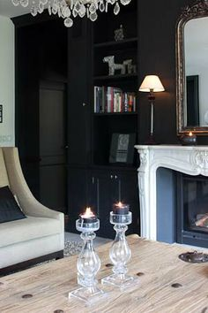 Ambience Black Rooms, Country Style, Sweet Home, Interior Design, Live, Belgium, Inspiration, Living Rooms, Kitchens