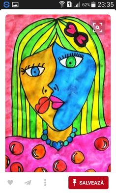 Check out student artwork posted to Artsonia from the Grade 5 2013 - Picasso Portraits project gallery at Pecanwood College Preparatory School. Pablo Picasso, Kunst Picasso, Picasso Art, Picasso Paintings, Picasso Kids, Picasso Images, Portrait Picasso, Portraits Cubistes, Picasso Style