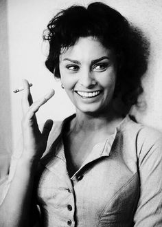 Sophia Loren - looking much more Italian than ever!