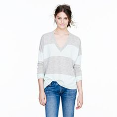 Collection cashmere boyfriend sweater in colorblock- I love this laid back look so much.