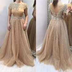 Find More Evening Dresses Information about Hot Sale Champagne Evening dresses…