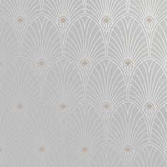 Bradbury Art Deco Designs | Havana Wallpaper in Platinum - I'm enjoying the patterns on this website