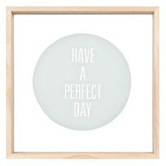 Tableau en verre et bois 25 x 25 cm PERFECT DAY