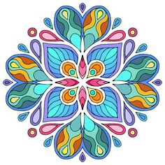 Espacio de imágenes y palabras...: Mandala LXVI Paz Hippie, Hippie Art, Mandala Drawing, Mandala Painting, Pattern Art, Abstract Pattern, Coloring Books, Coloring Pages, Quilling Patterns