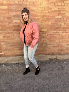 Pink Bomber Jacket - The Gap