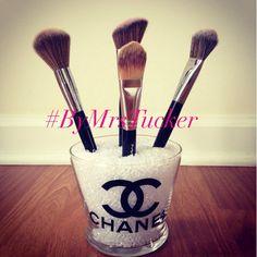 brush holder beads. chanel make - up / makeup brush holder brushes \u0026 beads not included!! sorry beads