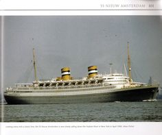 Nieuw Amsterdam. Holland America Line, Tug Boats, Love Pictures, Battleship, Sailing, Ocean, Steamers, Cruise Ships, Rotterdam