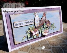Craftilicious Creations: Artsystamper: Happy Birthday 20th Birthday, Happy Birthday, Simple Birthday Cards, You Are Invited, Vintage Roses, I Card, Backdrops, Have Fun, Birthdays