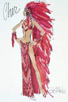 Cher costume design by Bob Mackie