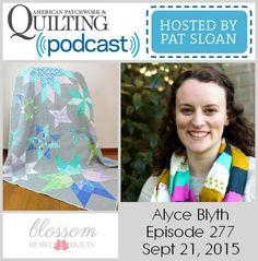 American Patchwork Quilting Pocast episode 277 Alyce Blyth