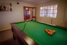Pool anyone? The Newly refurbished games area with tables and seating to dine now too...