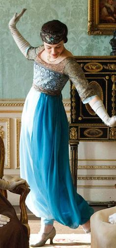 Lady Sybil (Jessica Brown Findlay) in her new harem ensemble. Downton Abbey, season 1, episode 3