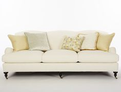 Calico's Russell Sofa in Sky-Salt Crypton fabric