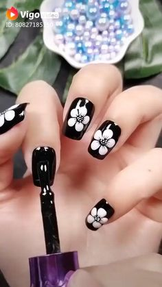 Nail Art Designs Videos, Nail Art Videos, Toe Nail Designs, Animal Nail Designs, Nails Design, Stylish Nails, Trendy Nails, Cute Nails, Gel Nails
