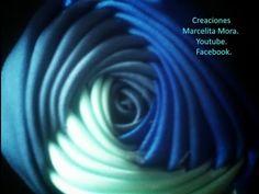 How Make a Rose Flower with Ribbon / Flor Torbellino Paso a Paso / Segunda Tecnica. - YouTube