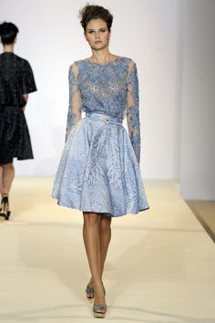 Temperley London, Spring Summer '13, Peony Long Sleeve Top and Tile Flared Skirt
