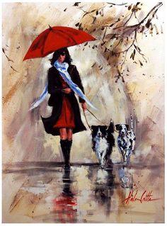 Rain Illustration by Helen Cottle