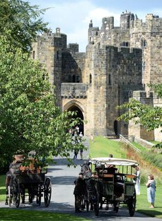Filming taking place at Alnwick, Northumberland. Downton Abbey.