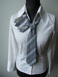 Necktie Necklace Necktie Collar Repurposed by GarageCoutureClothes