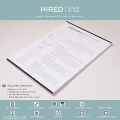 Professional & Modern Resume template for Word & Pages Cover Letter Design, Cover Letter For Resume, Cover Letter Template, Letter Designs, Resume Cv, Resume Writing, Resume Design, Modern Resume Template, Cv Template