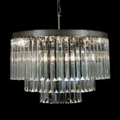 @Overstock - This breathtaking crystal chandelier has 3 tiers of crystals surrounding its nine lights. The classic style of this gorgeous chandelier will create a sophisticated look in any setting.http://www.overstock.com/Home-Garden/Odeon-Crystal-Glass-Fringe-3-tier-Chandelier/7535911/product.html?CID=214117 $309.99
