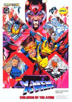 """joearlikelikescomics: """" Box art for X-Men Children of the Atom game by Jim Lee """" Marvel Comics Art, Marvel Comic Universe, Marvel X, Marvel Heroes, Comic Book Covers, Comic Book Heroes, Comic Books Art, X Men, Men Tv"""