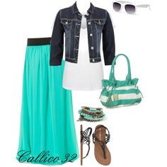 """Maxi Skirt #7"" by callico32 on Polyvore"