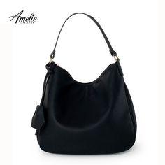 b66fcb1878 AmelieGalanti 2016 women shoulder bag women leather handbags brand women  casual fashion half moon bag hand
