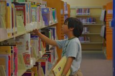 Browsing at the Fairfield Civic Center Library