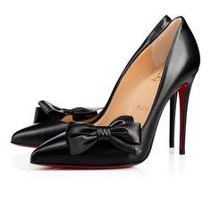 4dbaa43f1d4 Madame Menodo 100 Black Leather - Women Shoes - Christian Louboutin