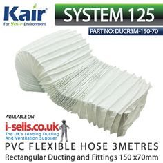 White PVC flexible ducting for use with extractor fans cooker hoods and tumble dryers  sc 1 st  Pinterest & indesit tumble dryer hose | UK Products | Pinterest
