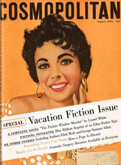 Elizabeth Taylor by Jon Whitcomb, Cosmo, August 1956
