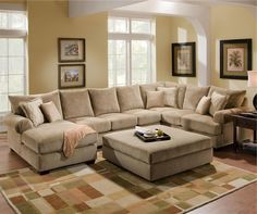 Chaise on the right & ottoman; love for our space. http://homebestfurniture.com