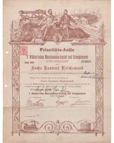 F. Wöhlert'sche Maschinenbau-Anstalt und Eisengiesserei AG 600RM 11/1881