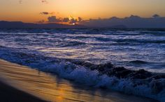 sunrise and surf