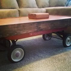 Radio Flyer Wagon Desks And Trunk Top Coffee Tables | Radio Flyer Wagons,  Radio Flyer And Tables