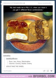 Upgraded peanut butter jelly sandwich is a culinary masterpiece