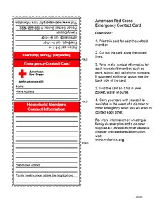 First Aid Badge - Emergency contact card