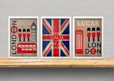london boy- trio de quadros para meninos