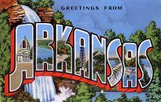 Greetings from Arkansas - Large Letter Postcard