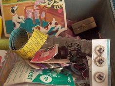 Ana Caldatto : Antiga caixa tipo Cesta de Costura