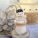 Vintage Folk Art Style Paper Mache Snowman Tutorial...He's so cute!